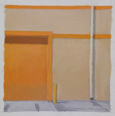 Composition with Orange Door