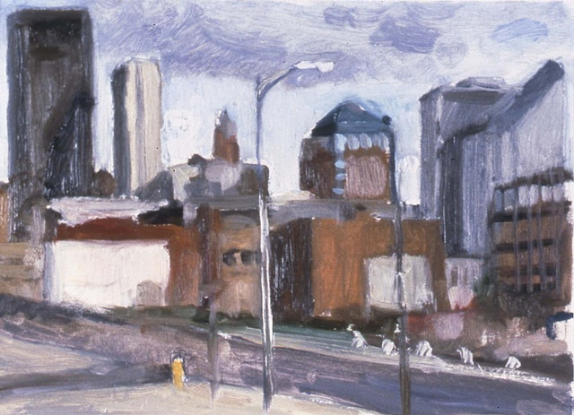 DSM Cityscape, oil sketch