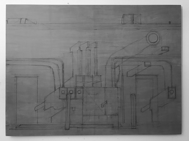 Completed underdrawing for Transformer