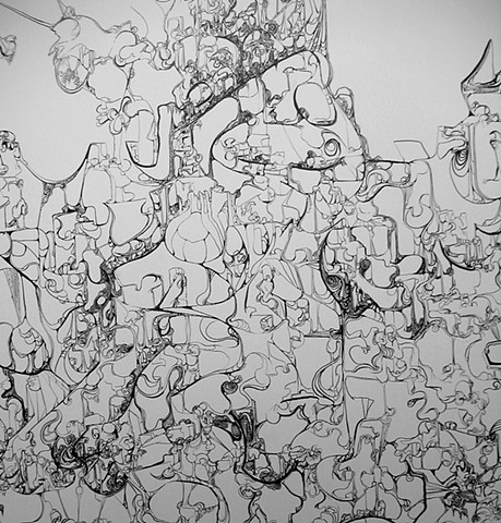 Wall Drawing detail (From DePauw University BA exhibition)