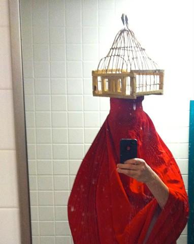 Bathroom Self portrait as Iranian Woman