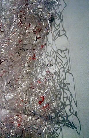 hot glue lace based on biohazard symbol