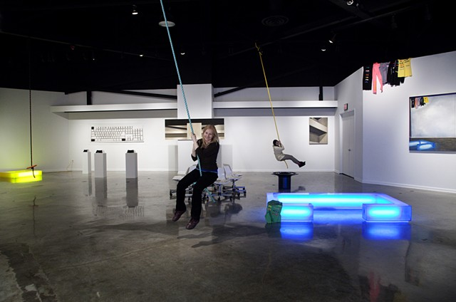 Installation view: Swinging in the Center Galleries, Detroit