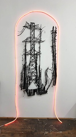 roofing paper, fire, wildfire, california wildfire, PG&E, Contemporary art, paper cutting