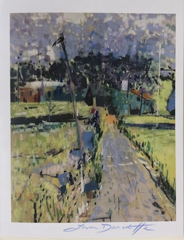 """Road To Hope, Stone Pier Gloucester"" Notecard"