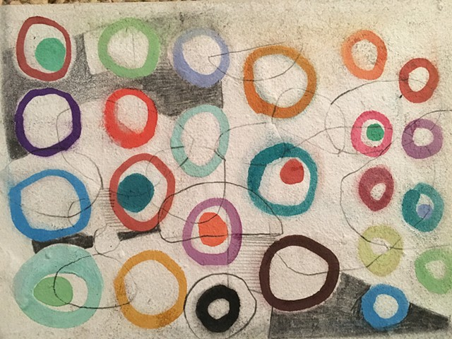 Circles on Handmade Paper