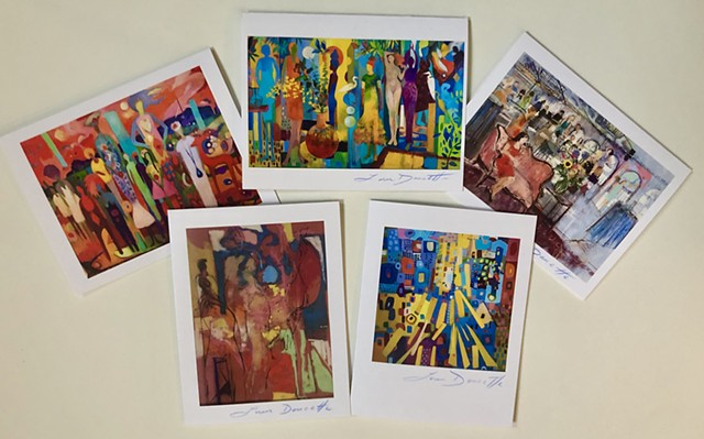 Figure/Abstract Notecard Bundle of 5