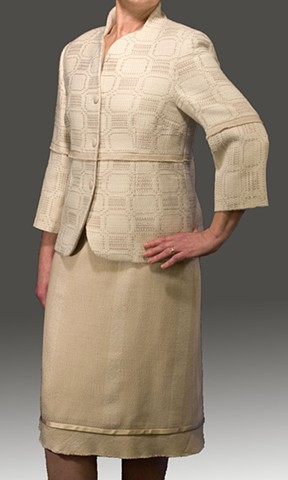 Handwoven couture woman's suit