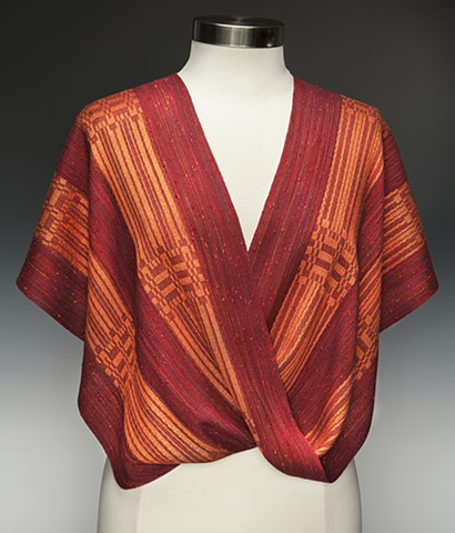 Mobius shaped handwoven shawl