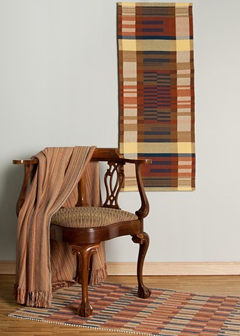 Anni Albers-inspired handwoven home textile collection