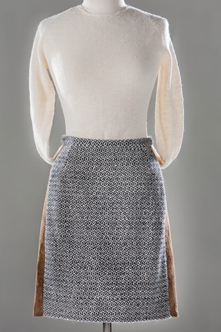 Handwoven skirt with sweater