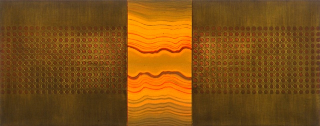 Untitled (ripples/circles), triptych