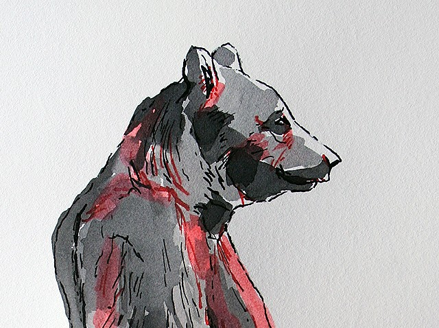 (Black & Red Bear) detail