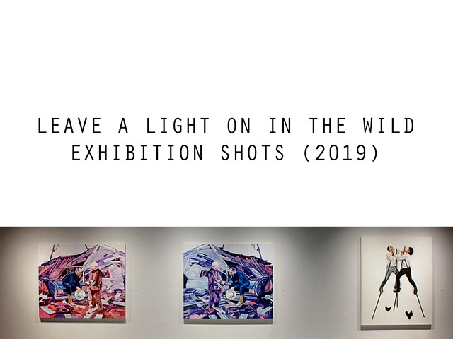 Leave A Light On In The Wild exhibition shots