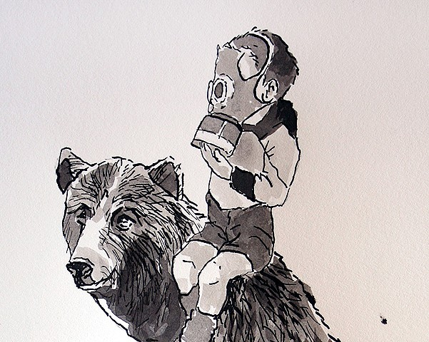 (Boy on Bear) detail