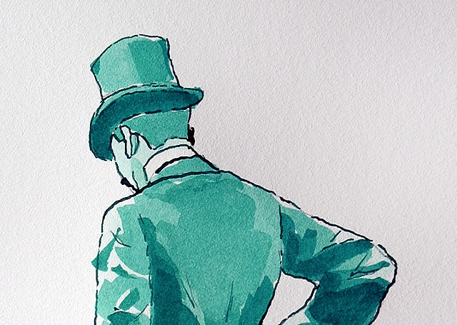 (Green Top Hat Man) detail