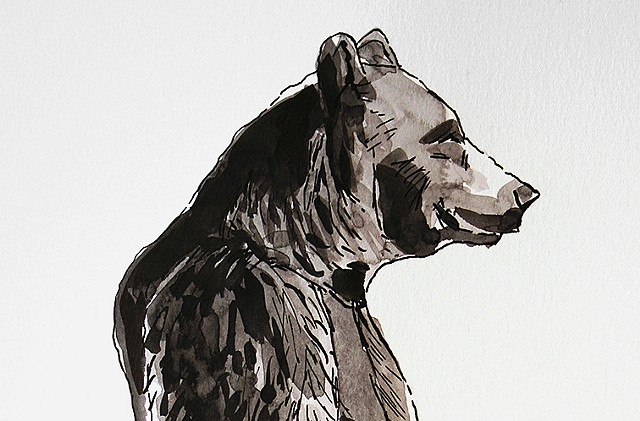 (Black & White Bear version II) detail