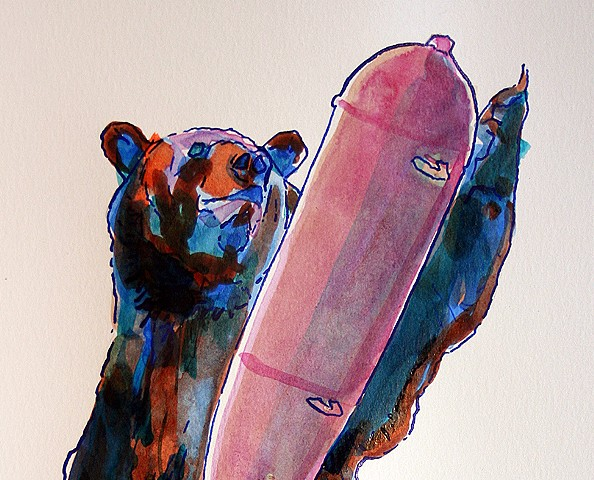 (Coloured Bear & Bomb) detail