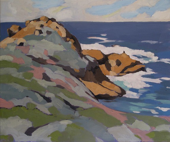 Plein Air panting, Point Lobos