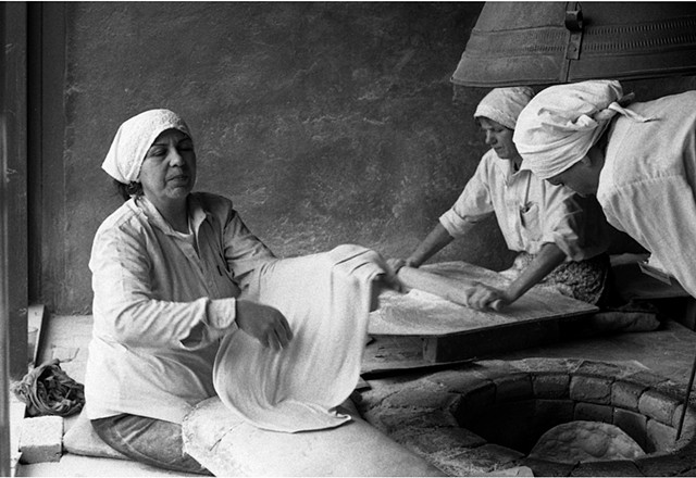 Women Baking Lavash