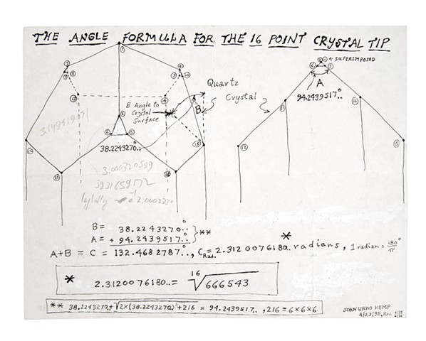 The Angle Formula for the 16 Point Crystal Tip 4.23.1995