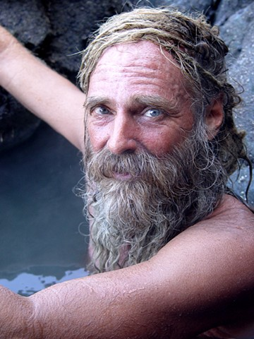 John at his favorite hot springs by Anonymous Photographer