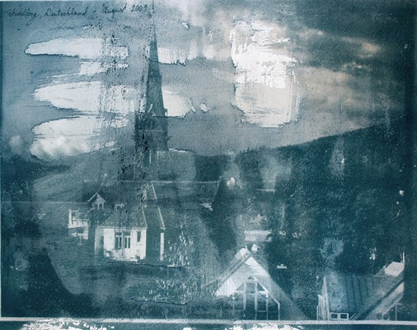 Student work, cyanotype 2009
