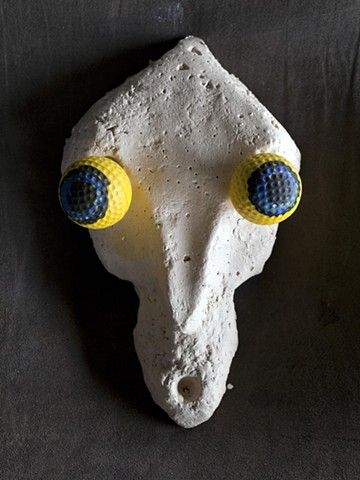 Planet X (detail, Skull with Yellow Eyes) 2015
