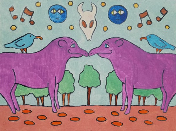 Tapirs Touching Trunks