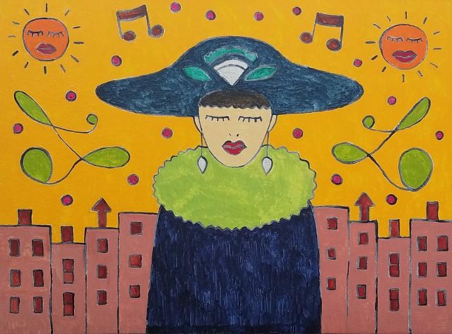 Art Deco City Girl