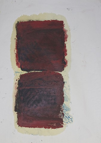 oil,paper,abstract,mind,awareness,abstract contemplative,red