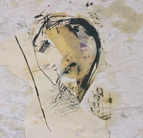 abstract contemplative drawing painting collage