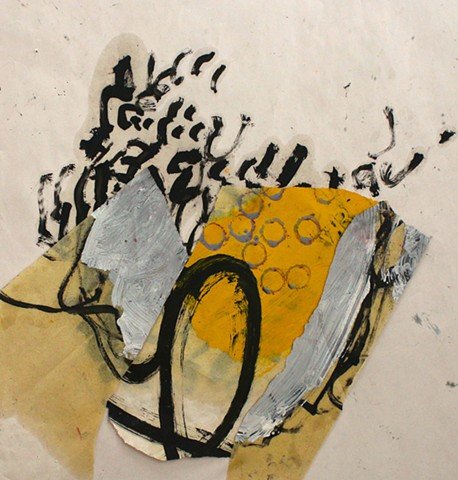 abstract contemplative drawing painting,collage