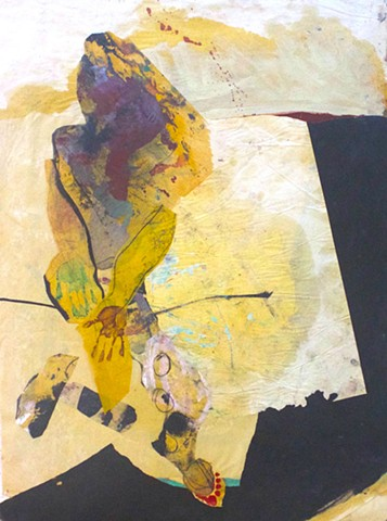 abstract contemplative figurative drawing painting,collage