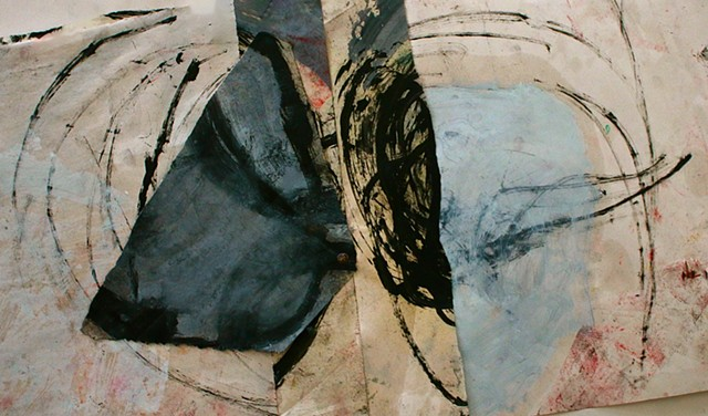oil,paper,black,abstract,mind,awareness