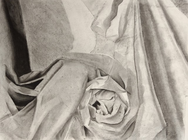 Organic form and plane study of fabric.