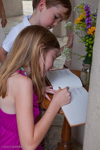 Signing the Guest Book