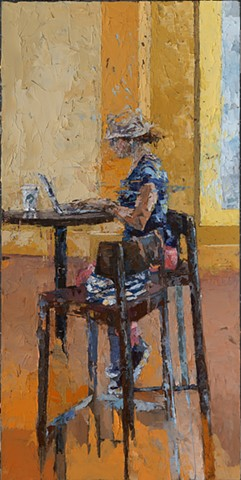 oil painting, portrait, figurative, cell phone, abstraction, tablet, social media