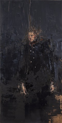 portrait, oil painting, abstraction, figurative, painting, black