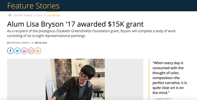 Alum Lisa Bryson '17 awarded $15K grant