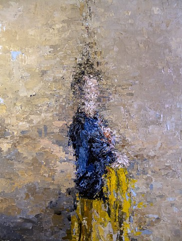 portrait, oil painting, abstraction, figurative, painting