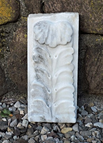 marble, acanthus, relief, stone, carving, Judith Kepner Rose