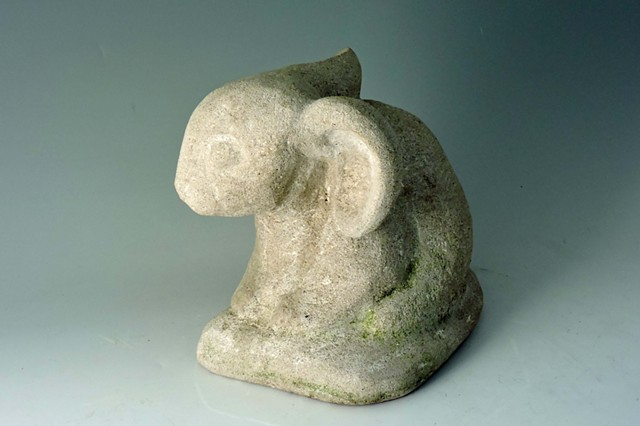 limestone, garden, rabbit, bunny, sculpture, Judith Kepner Rose, carving