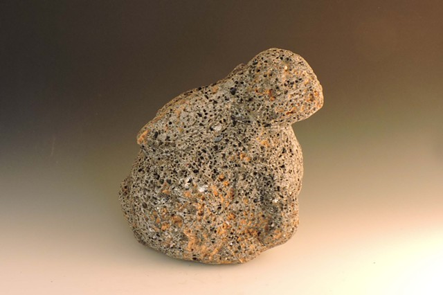 volcanic rock, igneous, stone, stonecarving, carving, garden sculpture, Judith Kepner Rose