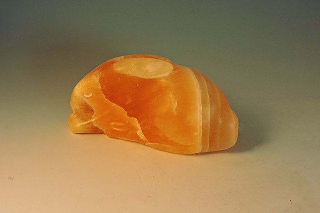 bunny, hare, honey calcite, honeycomb calcite, utah stone, Judith Kepner Rose