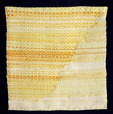 Woven textile art with natural dyes