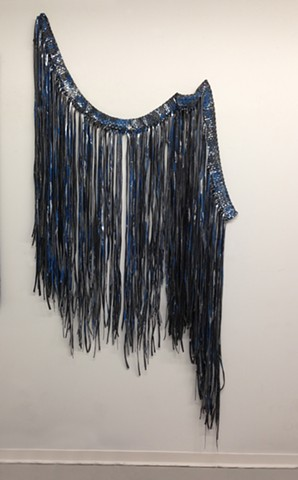 rubber fringe with acrylic ink