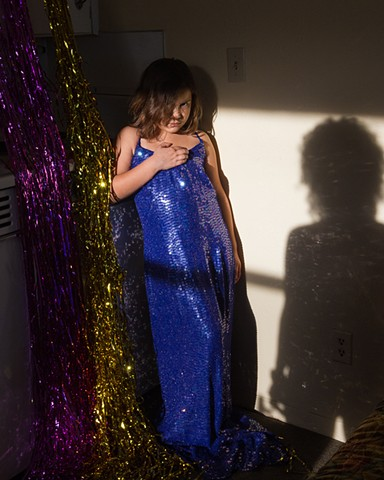 Untitled (Child in Sequins with Shadow)