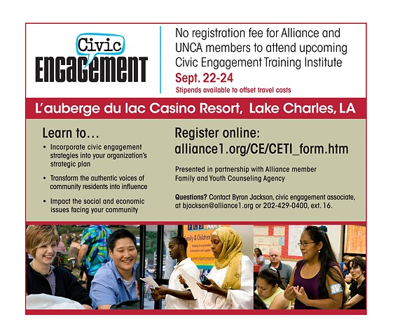Civic Engagement Institutes advertisement