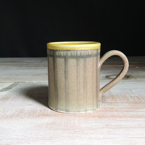 Rose and Amber Striped Diner Mug